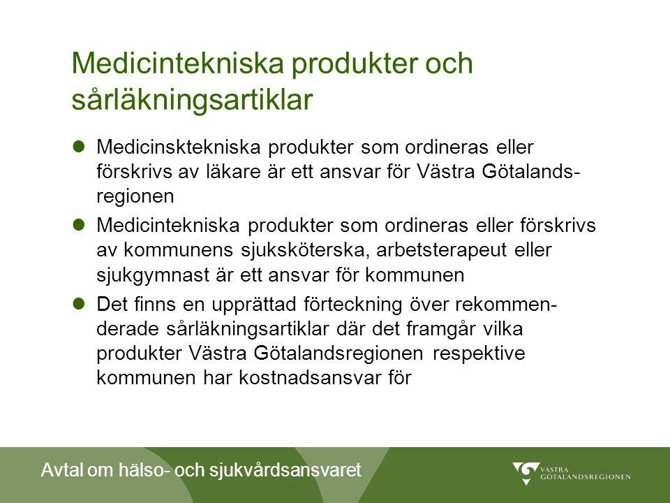 Medicintekniska produkter och sårläkningsartiklar