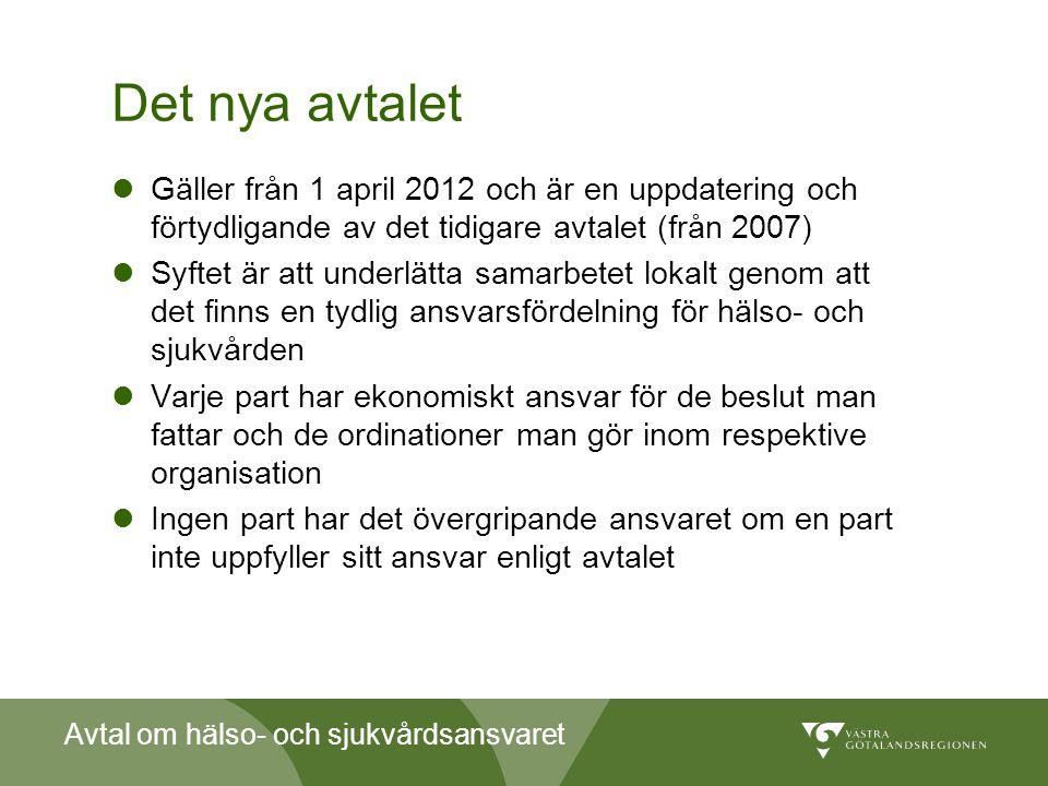 Det nya avtalet Gäller från 1 april 2012 och är en uppdatering och förtydligande av det tidigare avtalet (från 2007)