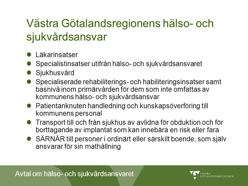 Västra Götalandsregionens hälso- och sjukvårdsansvar