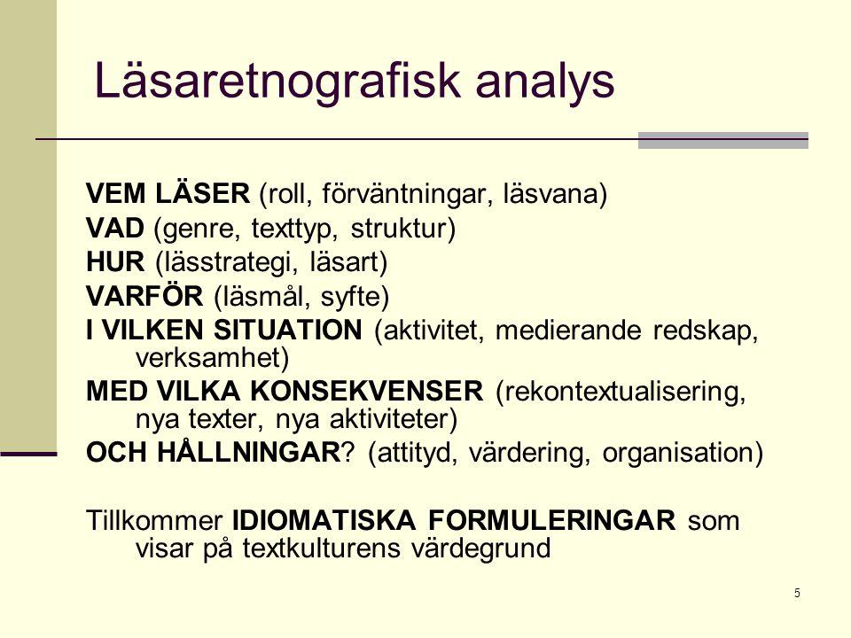 Läsaretnografisk analys