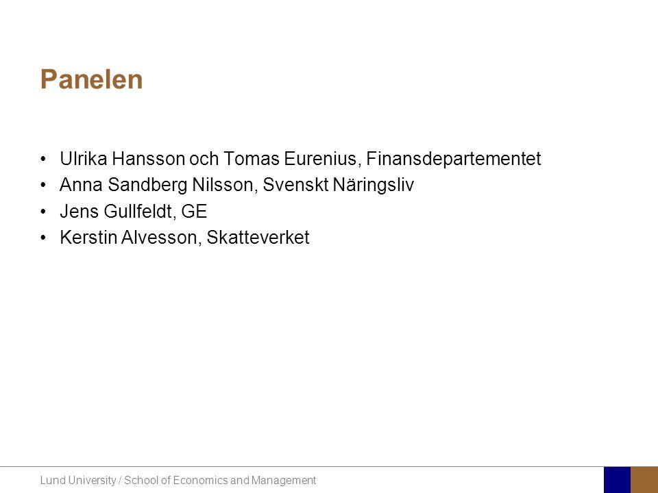 Panelen Ulrika Hansson och Tomas Eurenius, Finansdepartementet