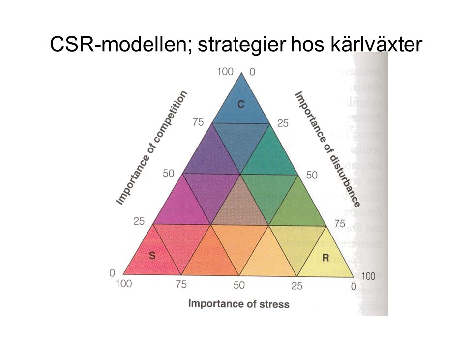 CSR-modellen; strategier hos kärlväxter