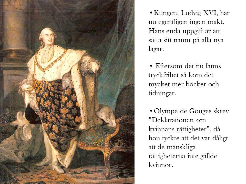 Kungen, Ludvig XVI, har nu egentligen ingen makt