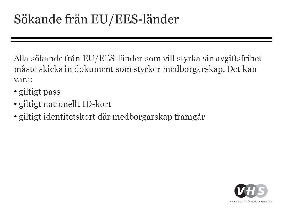 Sökande från EU/EES-länder