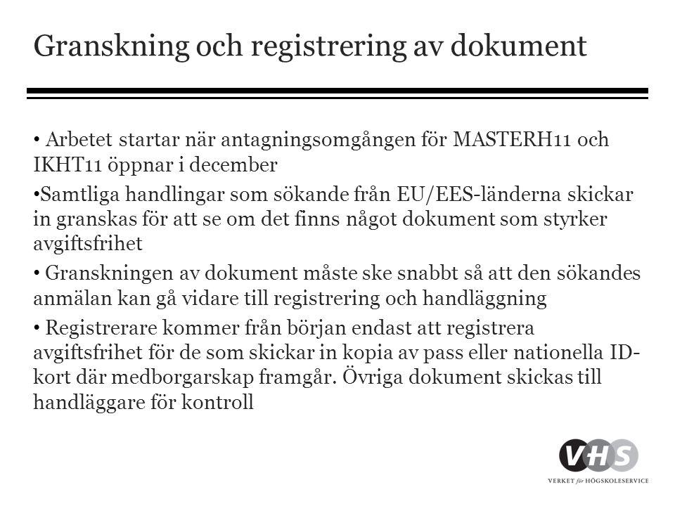 Granskning och registrering av dokument