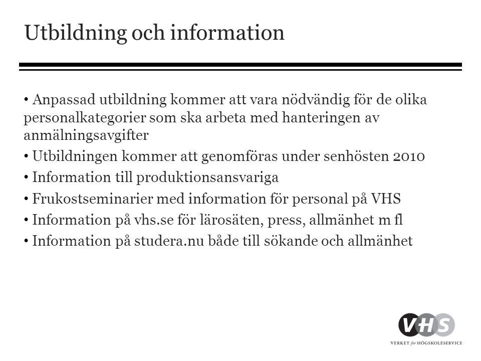 Utbildning och information