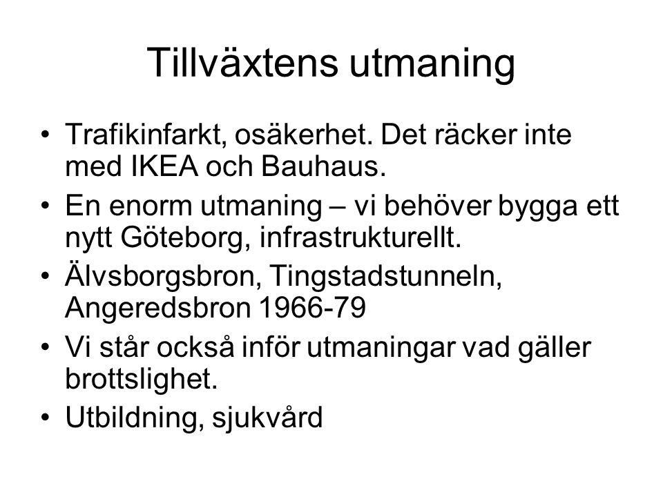 Tillväxtens utmaning Trafikinfarkt, osäkerhet. Det räcker inte med IKEA och Bauhaus.