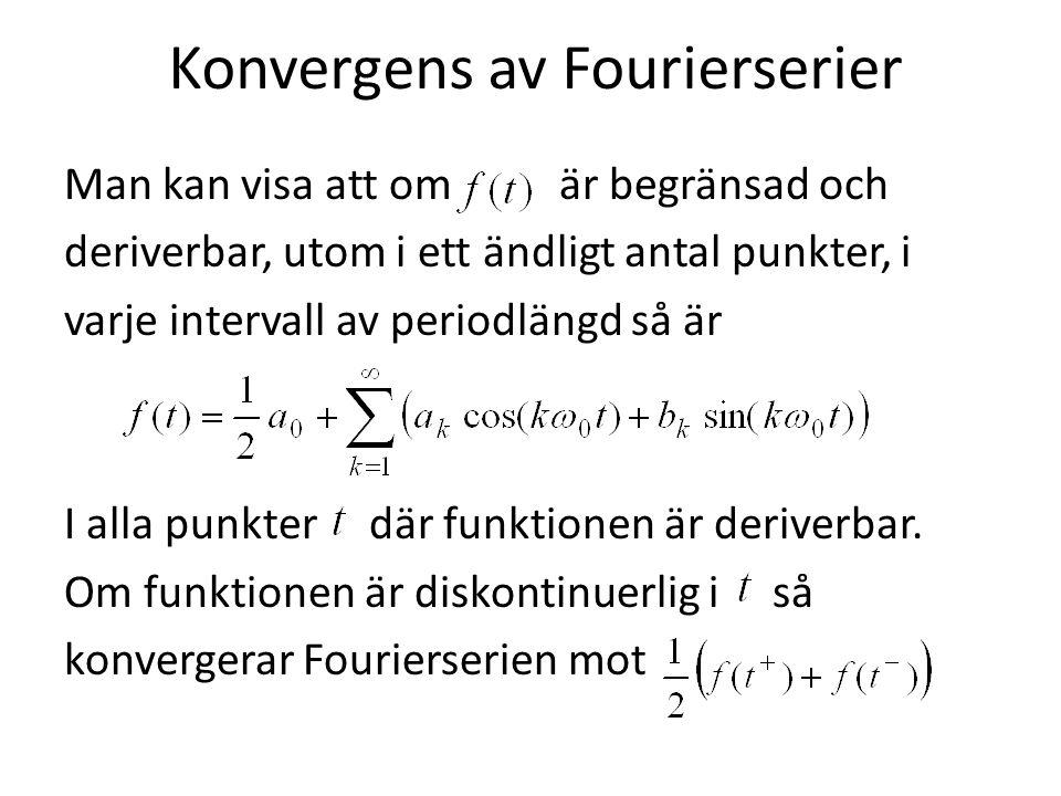 Konvergens av Fourierserier