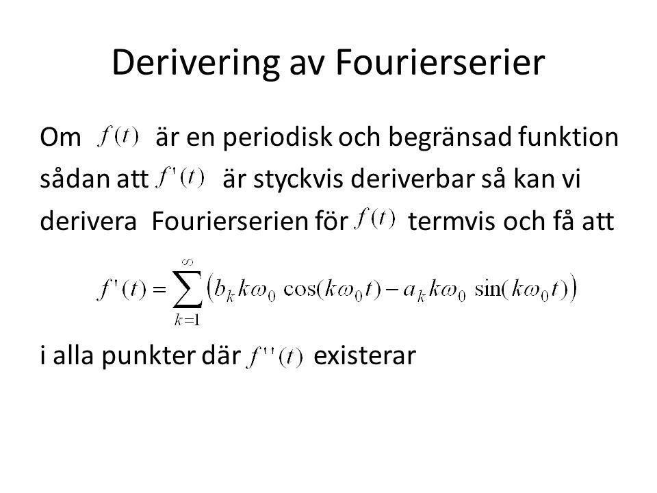 Derivering av Fourierserier