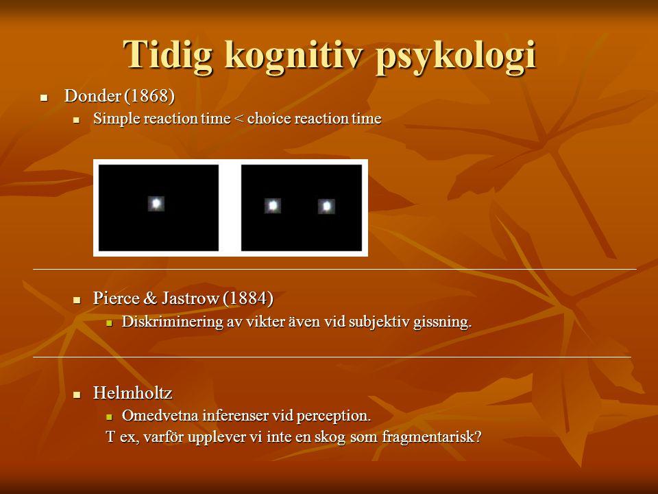 Tidig kognitiv psykologi