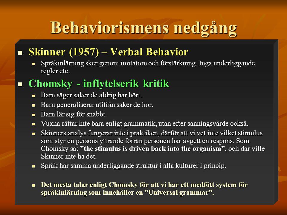 Behaviorismens nedgång