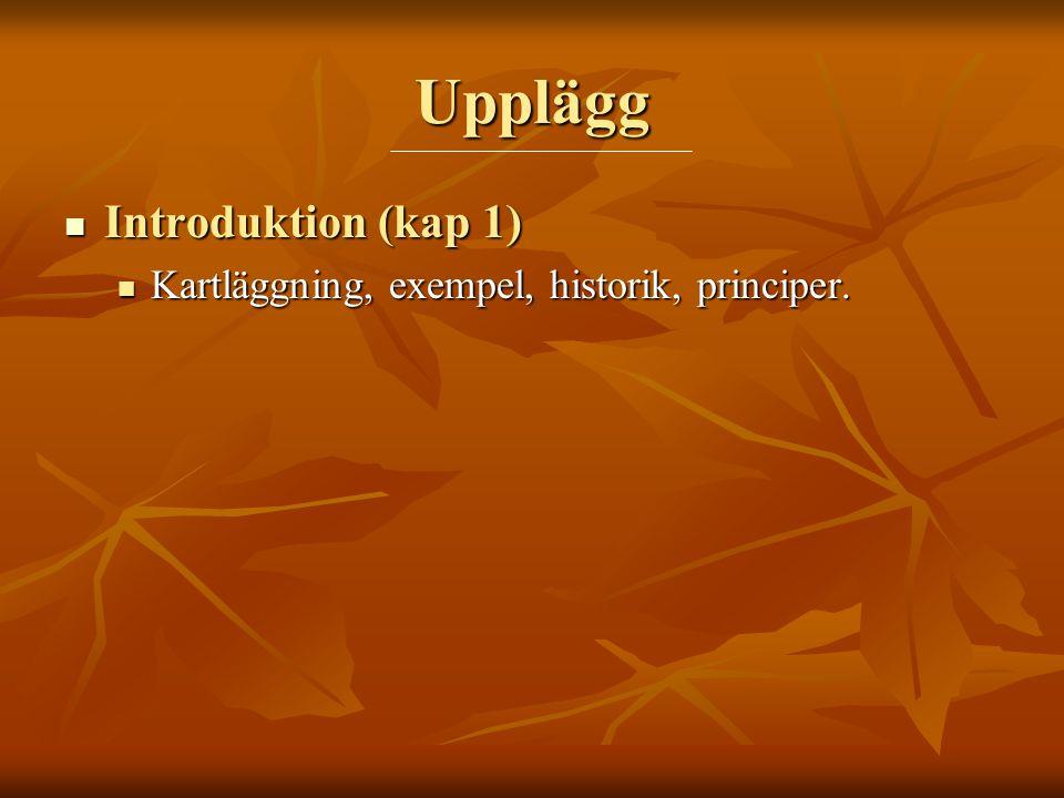 Upplägg Introduktion (kap 1)