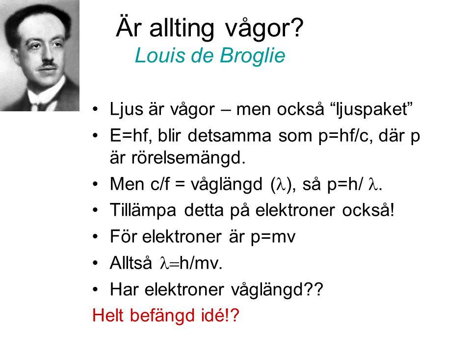 Är allting vågor Louis de Broglie
