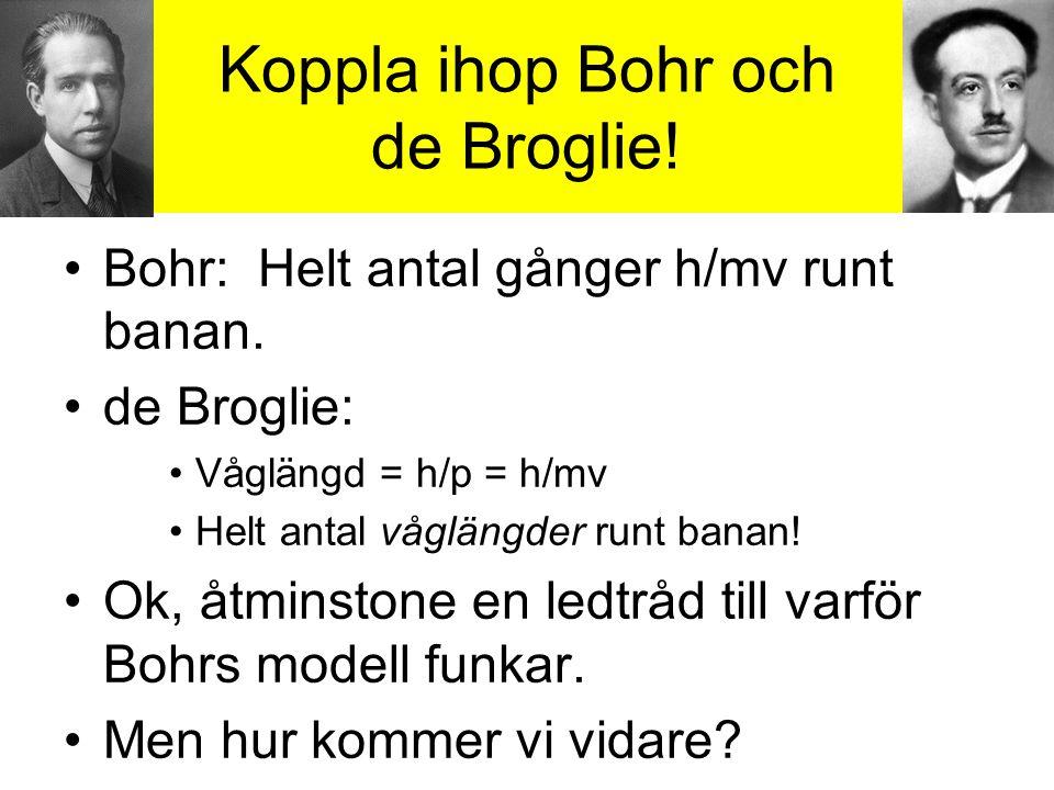 Koppla ihop Bohr och de Broglie!