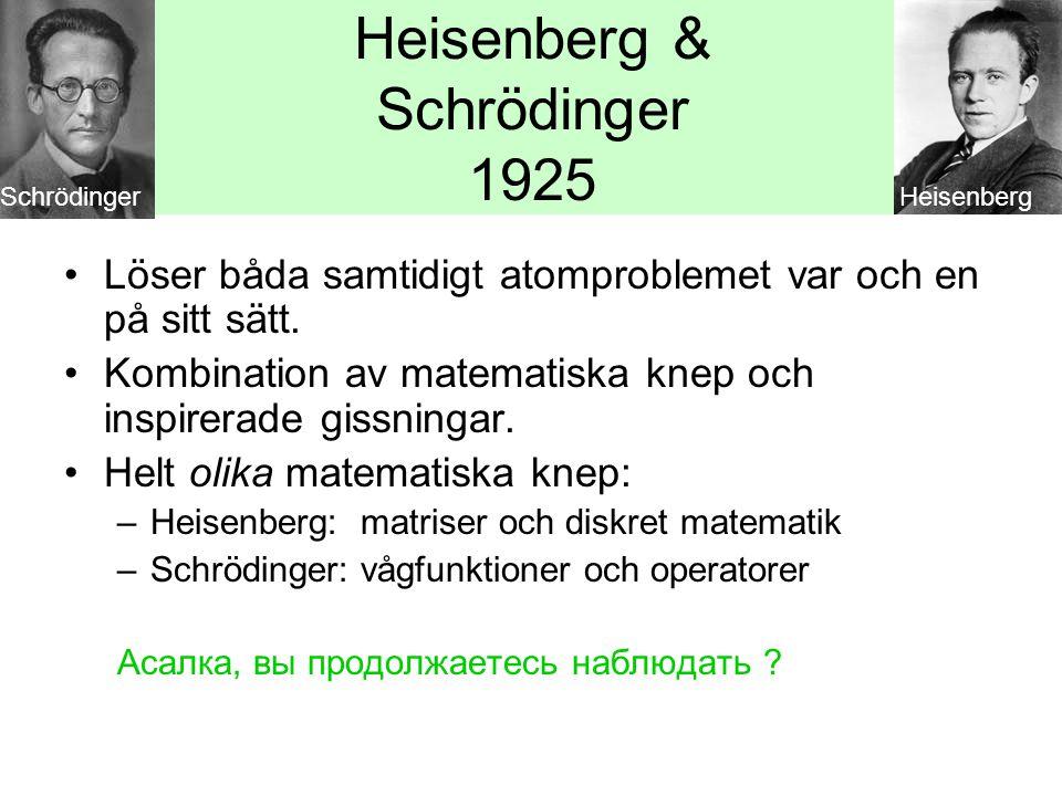 Heisenberg & Schrödinger 1925