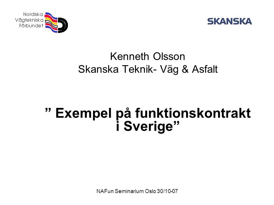 Exempel på funktionskontrakt i Sverige