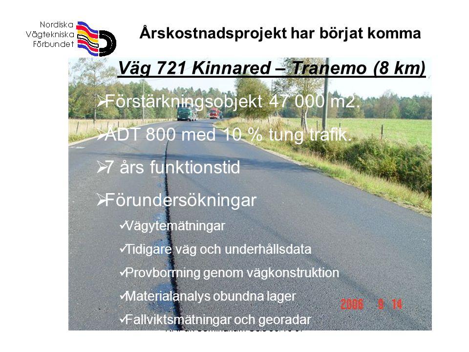 Väg 721 Kinnared – Tranemo (8 km)