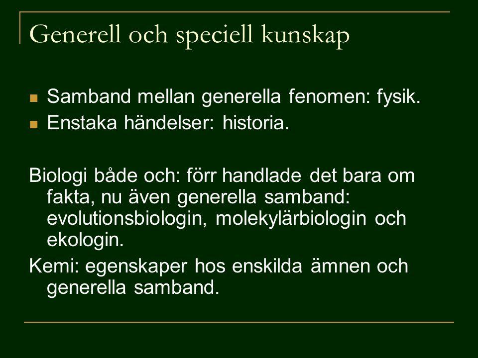 Generell och speciell kunskap