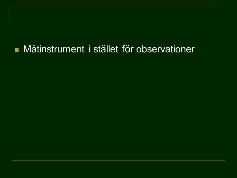 Mätinstrument i stället för observationer