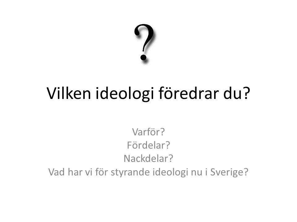 Vilken ideologi föredrar du