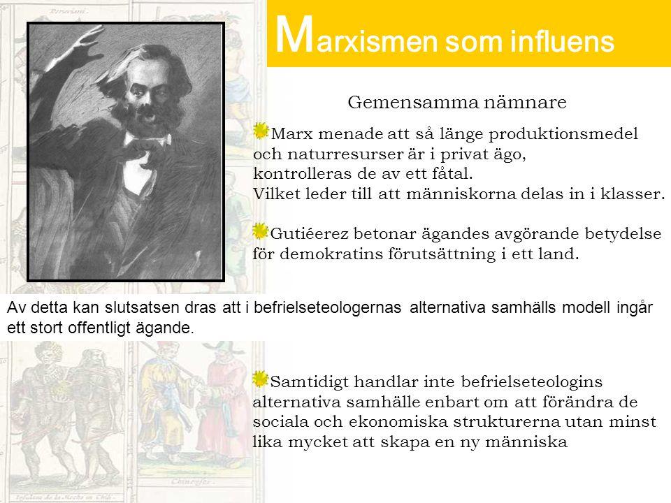 Marxismen som influens