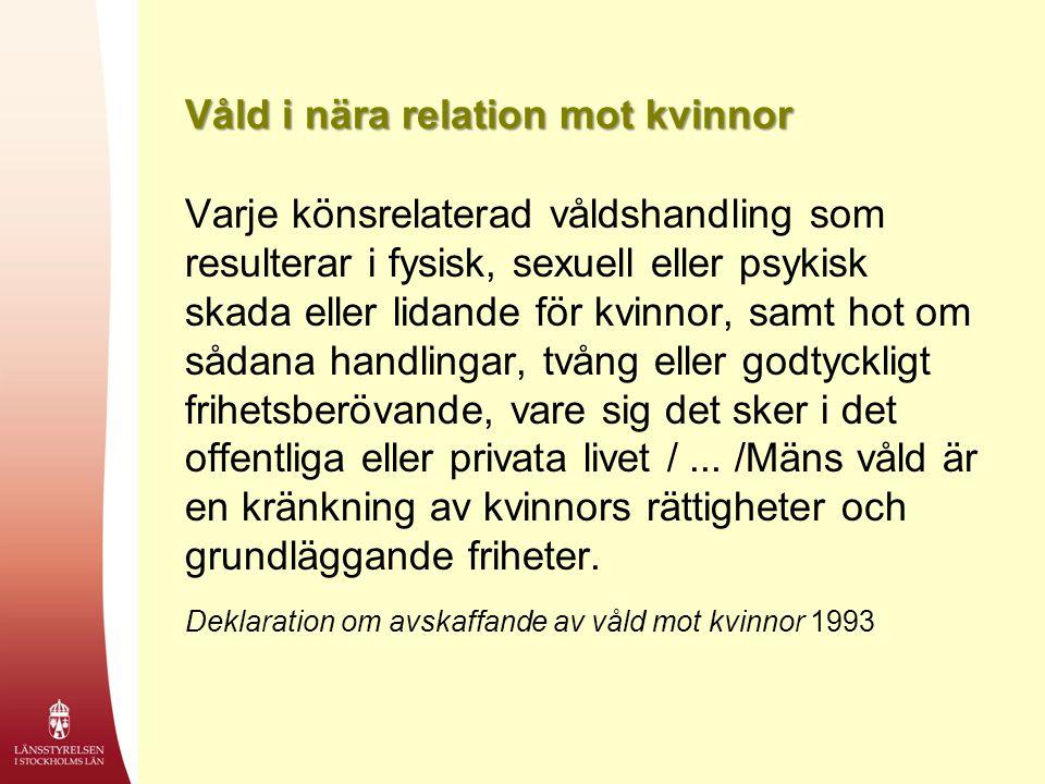 Våld i nära relation mot kvinnor