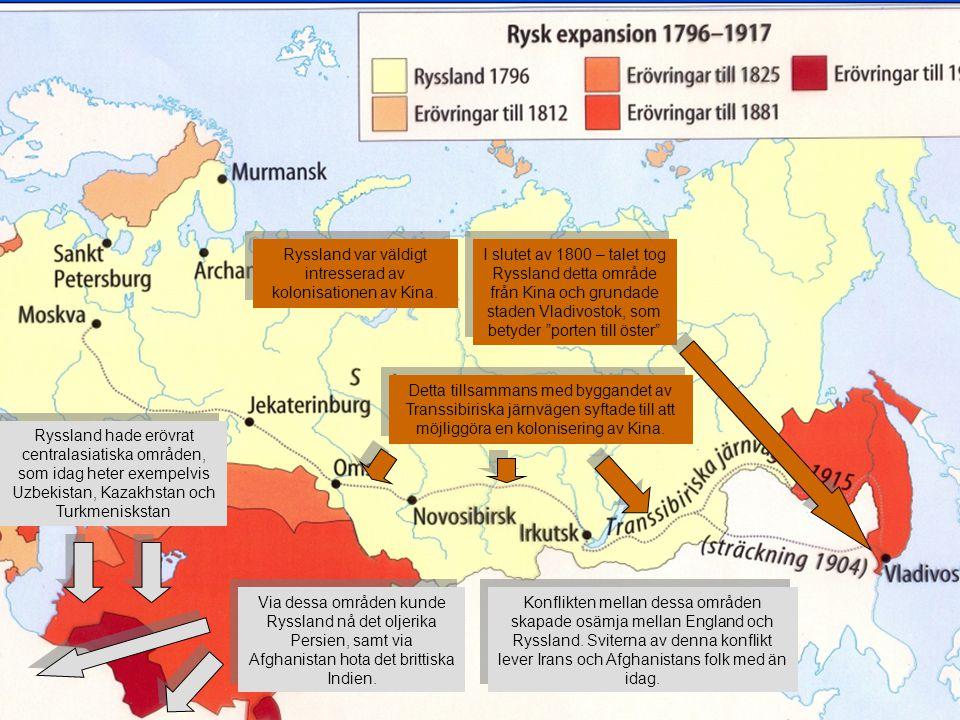 Ryssland var väldigt intresserad av kolonisationen av Kina.