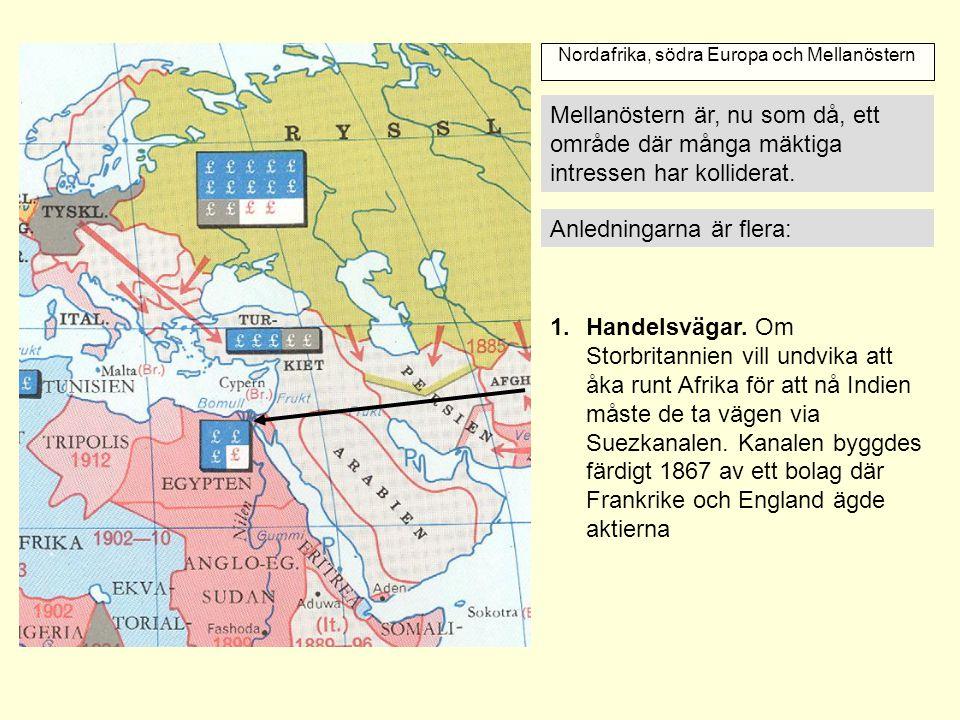 Nordafrika, södra Europa och Mellanöstern