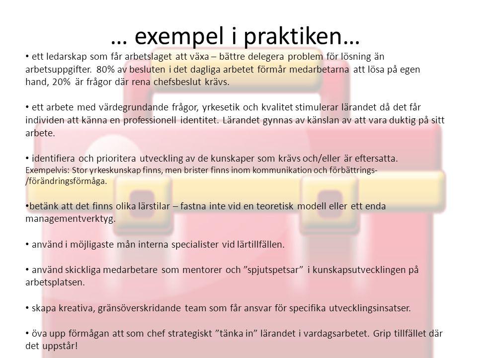 … exempel i praktiken…