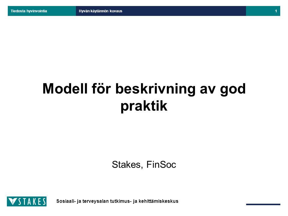 Modell för beskrivning av god praktik
