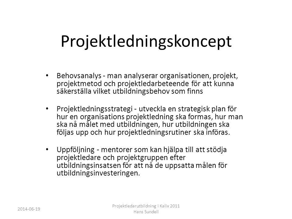 Projektledningskoncept