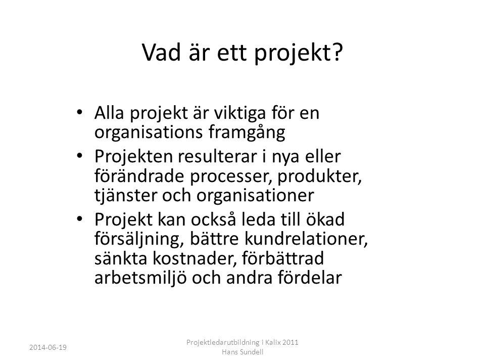 Kalix kommun Projektledarutbildning