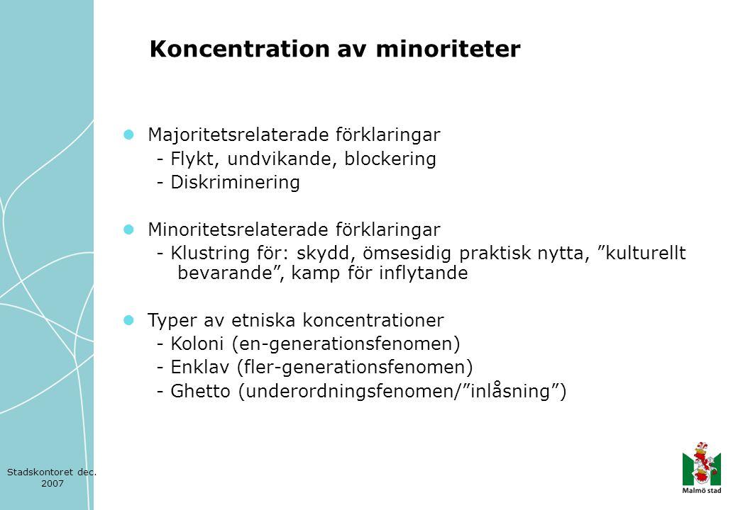 Koncentration av minoriteter