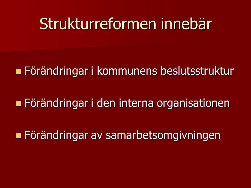 Strukturreformen innebär