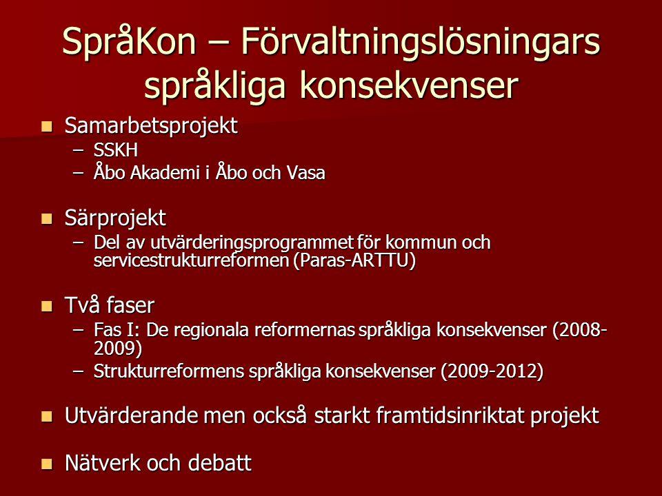 SpråKon – Förvaltningslösningars språkliga konsekvenser