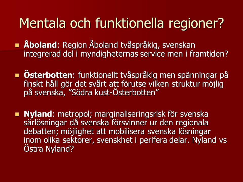Mentala och funktionella regioner