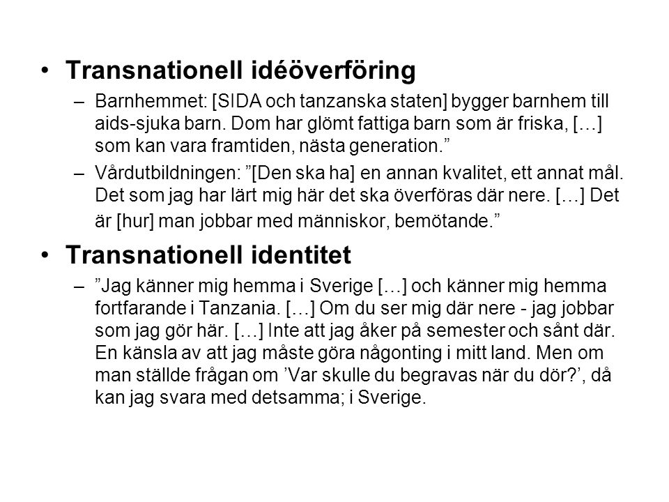Transnationell idéöverföring