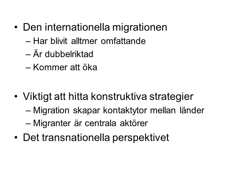 Den internationella migrationen