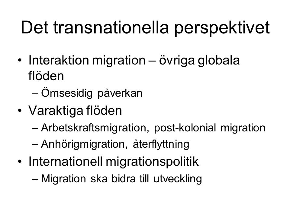 Det transnationella perspektivet