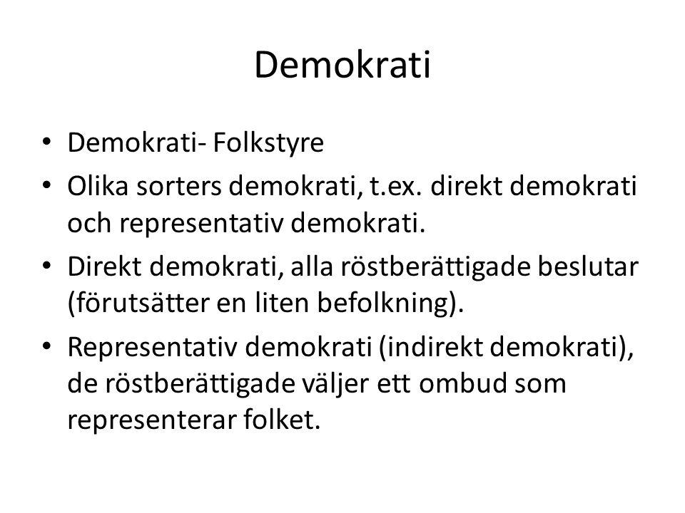 Demokrati Demokrati- Folkstyre