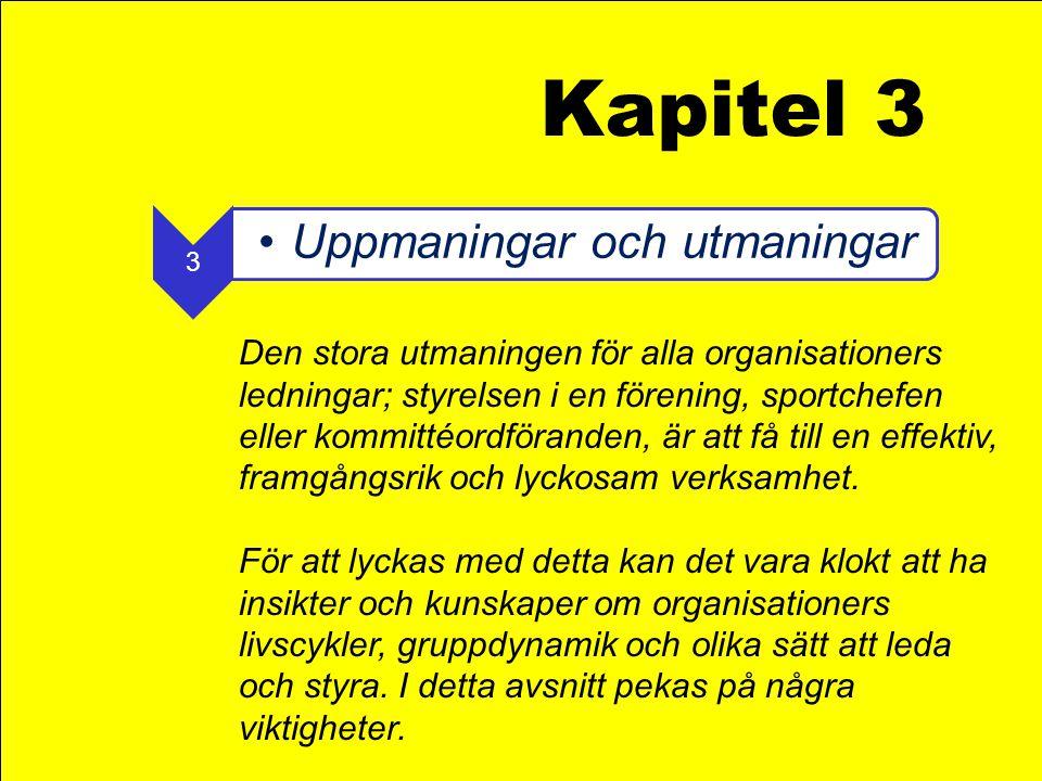 Kapitel 3 3. Uppmaningar och utmaningar.