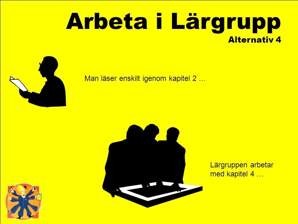 Arbeta i Lärgrupp Alternativ 4 Man läser enskilt igenom kapitel 2 …
