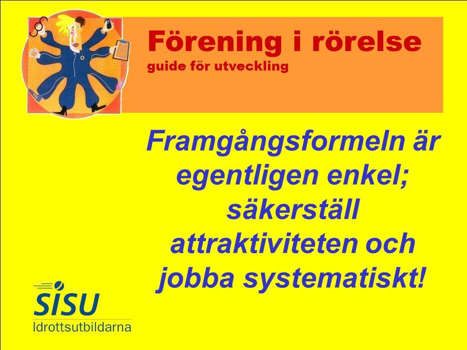 Förening i rörelse guide för utveckling. Framgångsformeln är egentligen enkel; säkerställ attraktiviteten och jobba systematiskt!
