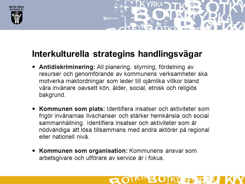 Interkulturella strategins handlingsvägar