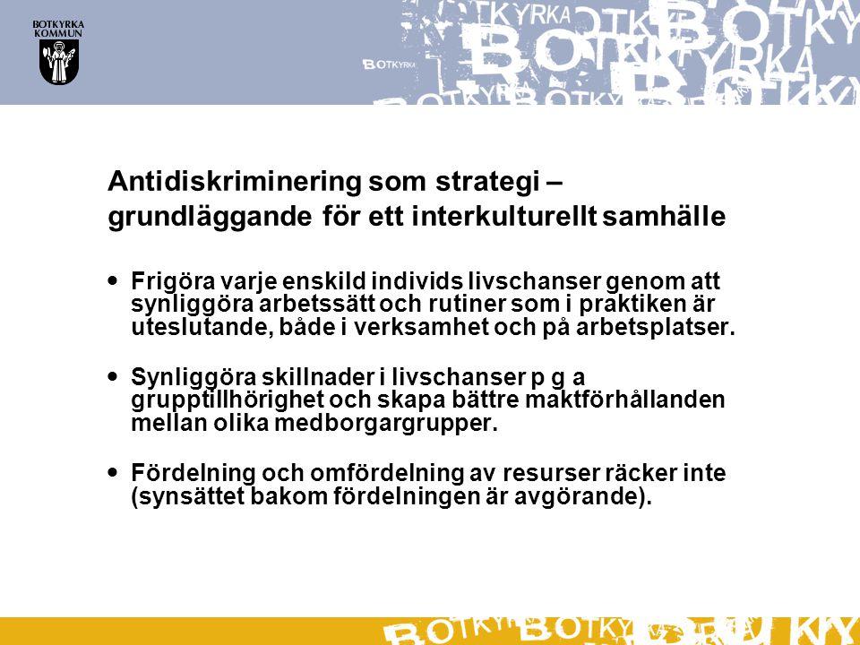 Antidiskriminering som strategi – grundläggande för ett interkulturellt samhälle