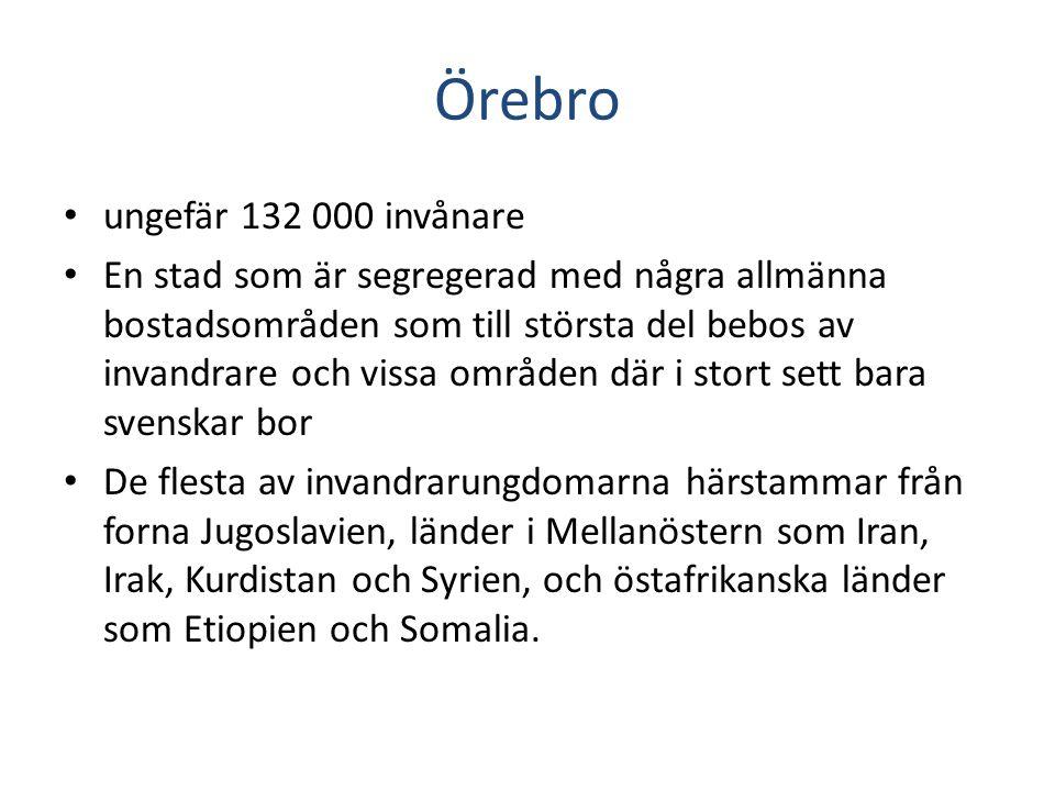 Örebro ungefär 132 000 invånare