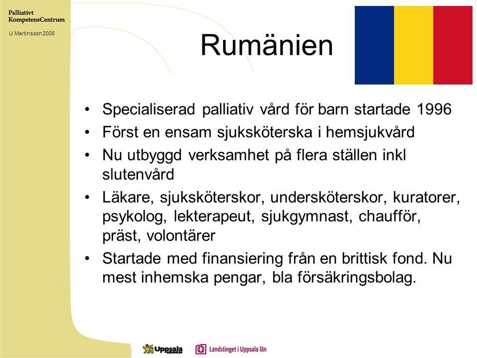 Rumänien Specialiserad palliativ vård för barn startade 1996
