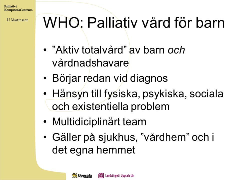WHO: Palliativ vård för barn