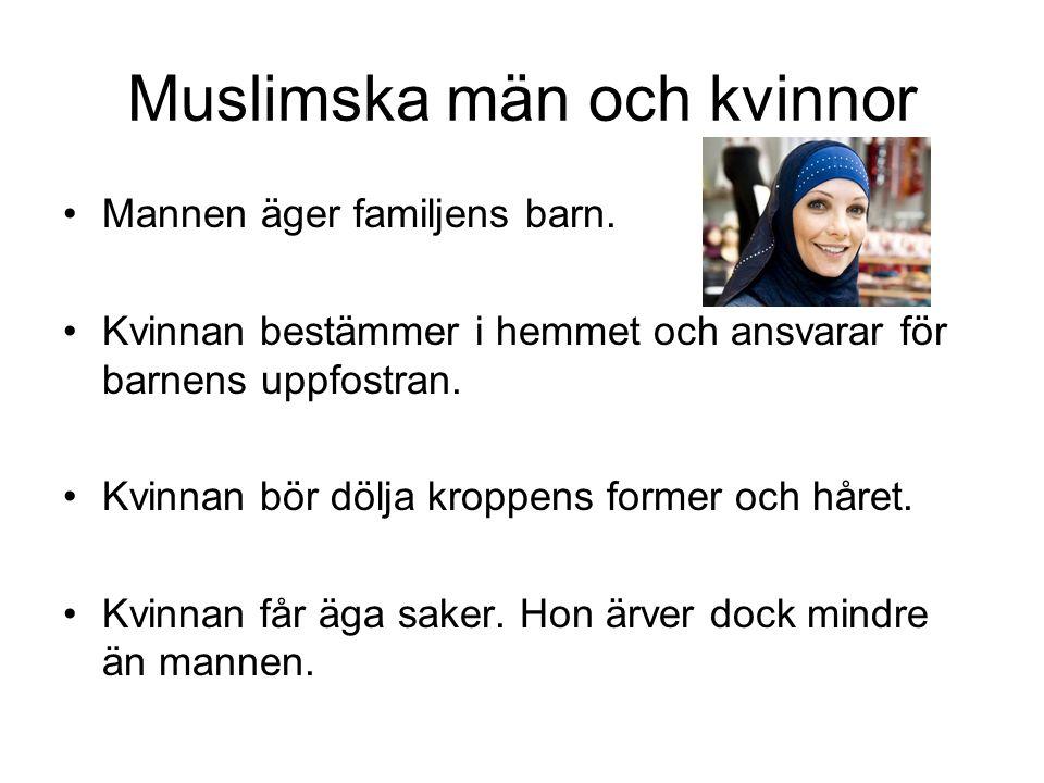 Muslimska män och kvinnor