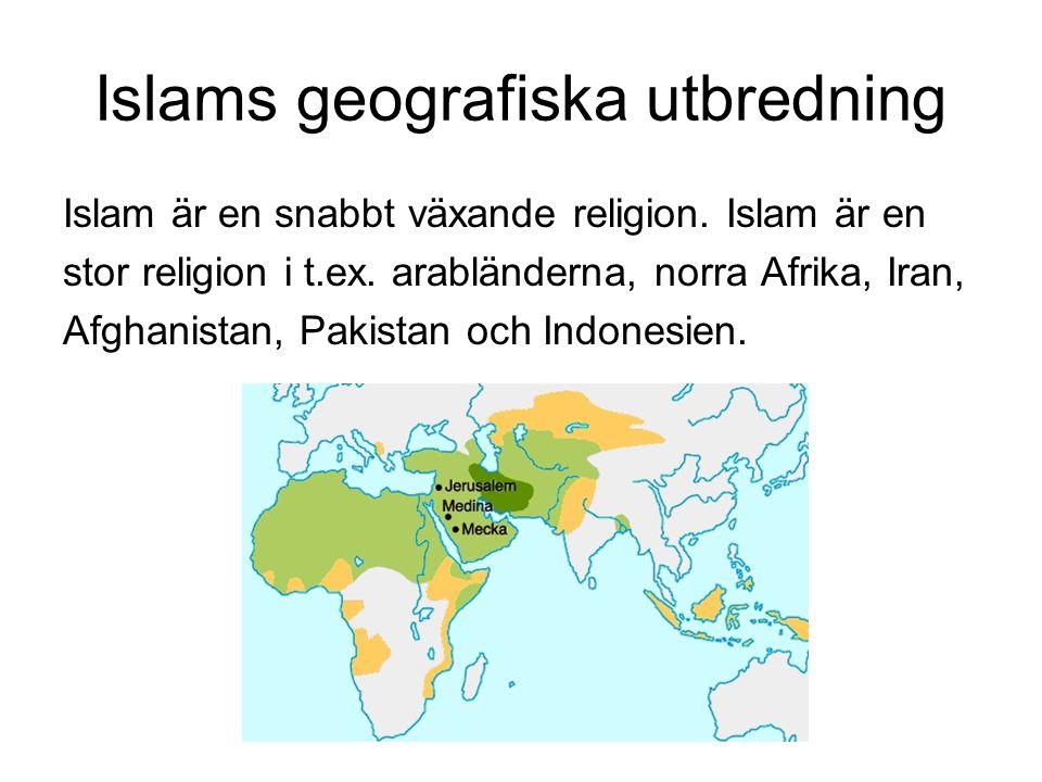 Islams geografiska utbredning